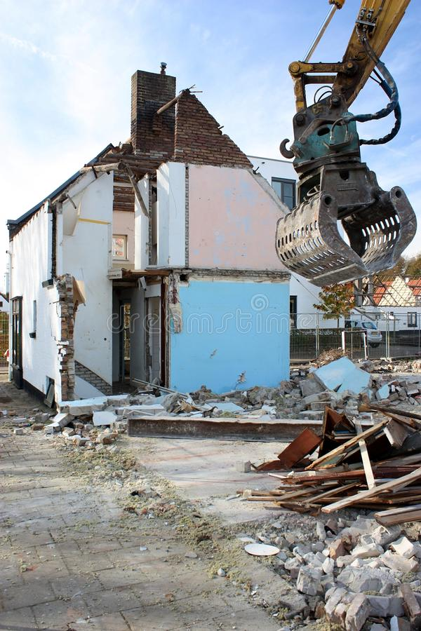 Demolition, Building, Facade, House stock photography