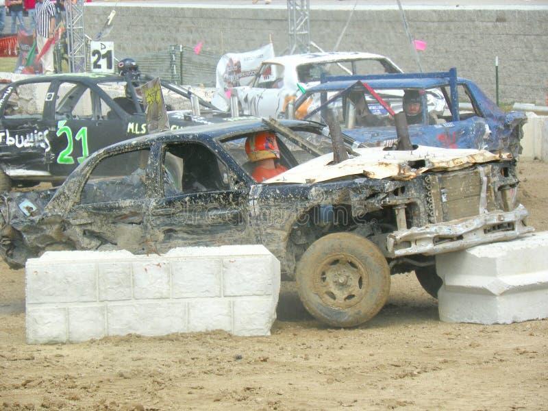 Demolition Derby Car royalty free stock image