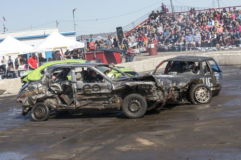 Demolition derby stock photos