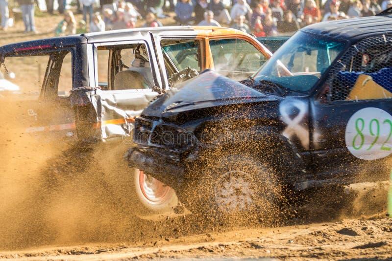Demolition Derby. Wild, crash, dangerous