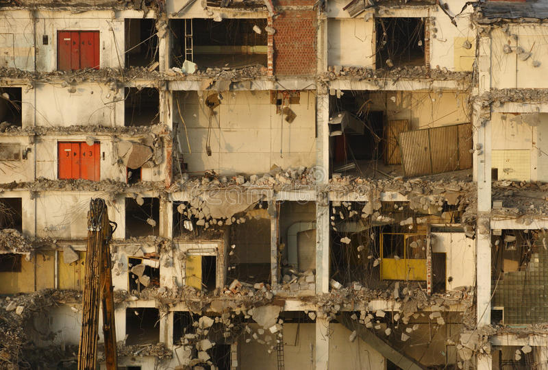 Download Demolition in detail stock image. Image of armature, architecture - 10213453