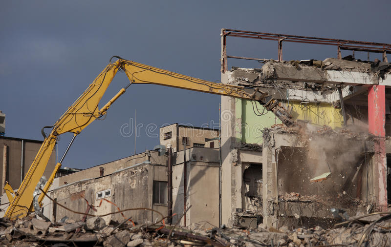 Demolition in detail royalty free stock photo