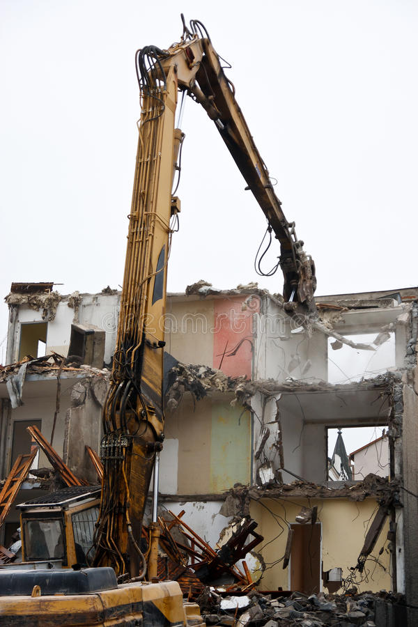 Demolition of flats royalty free stock image