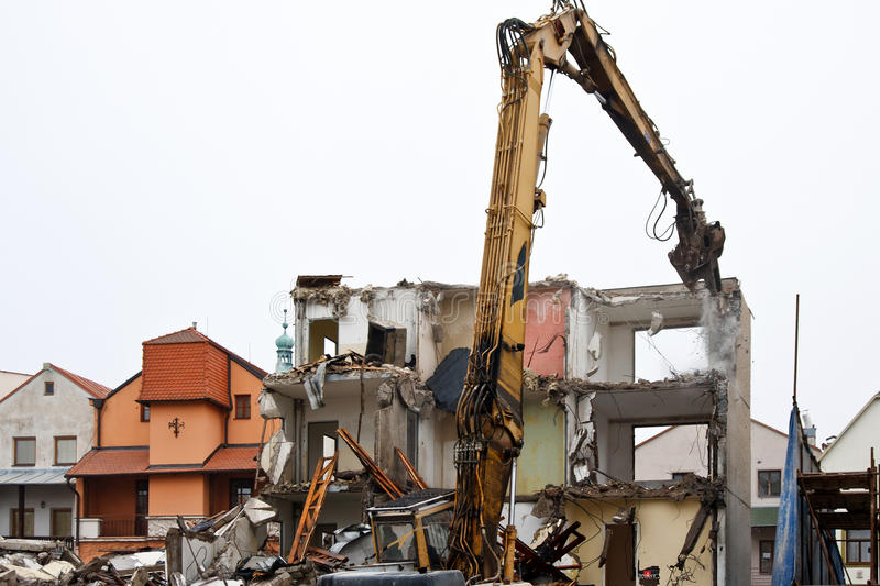Download Demolition of flats stock photo. Image of rubble, demolition - 22412694