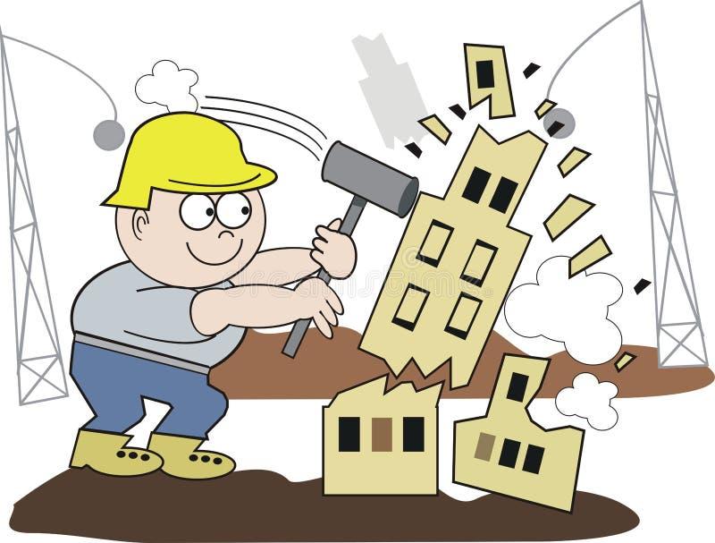Demolition man cartoon stock image