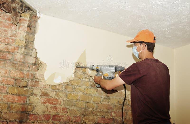 Demolition man stock photography