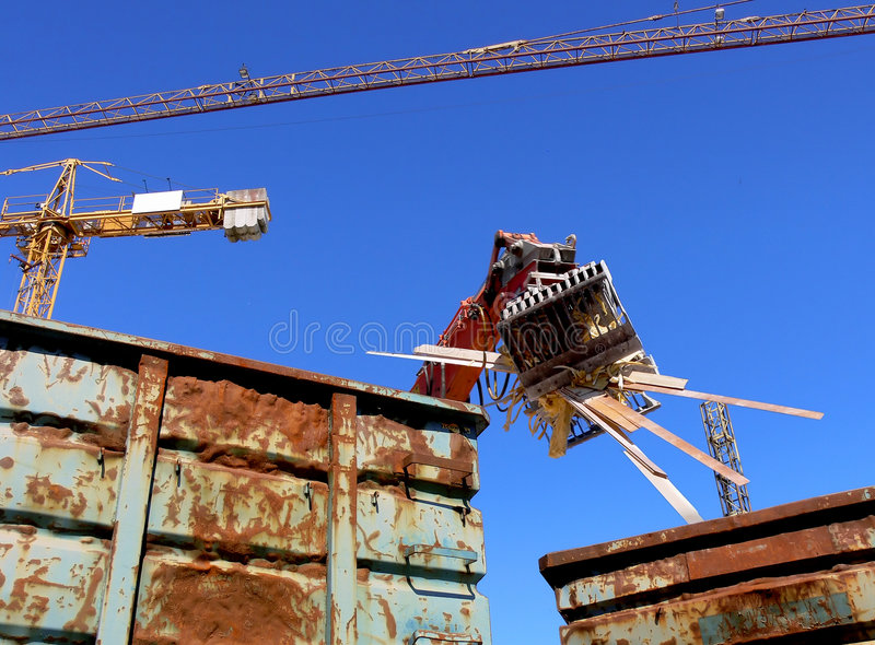 Download Demolition Recycling stock photo. Image of destruction - 6274054