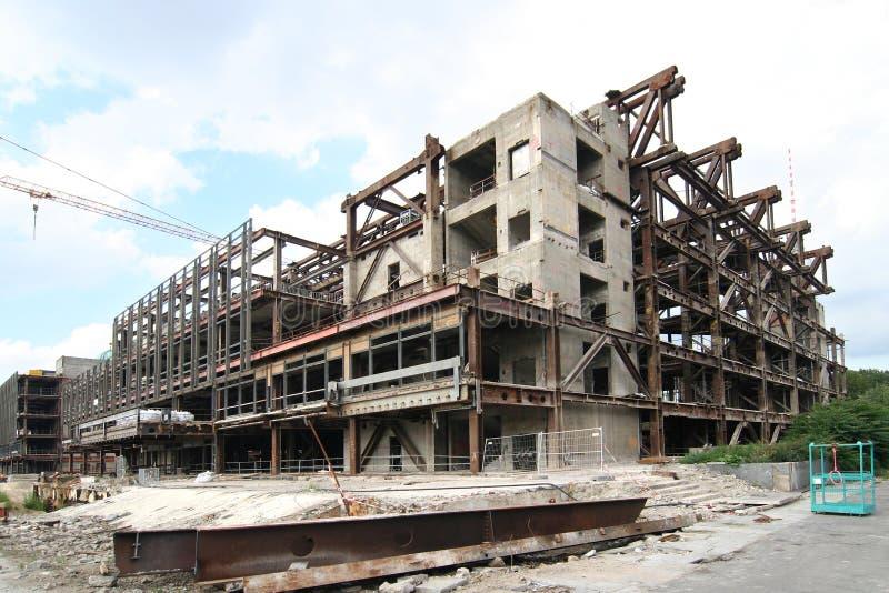 Demolizione del palazzo immagine stock