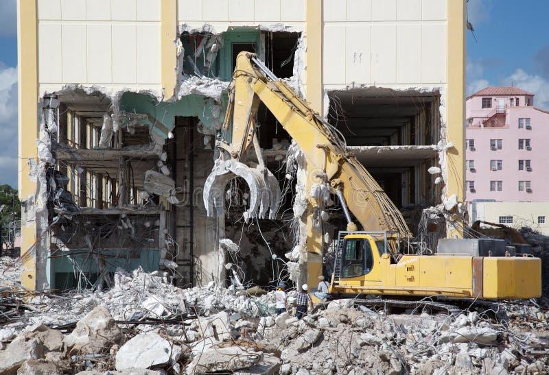 Demolizione della costruzione fotografie stock libere da diritti