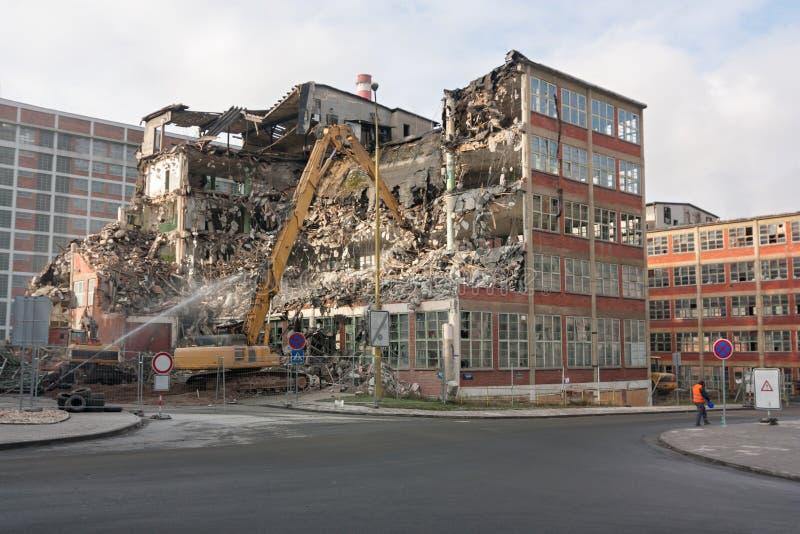 Demolizione di una costruzione fotografia stock
