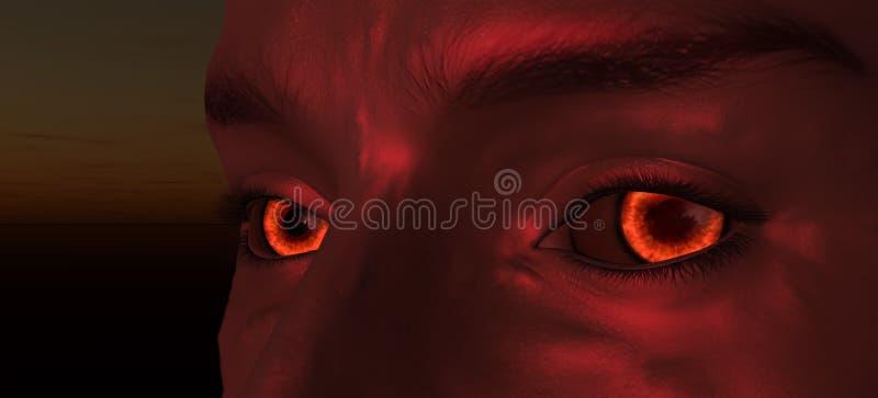 demonöga stock illustrationer