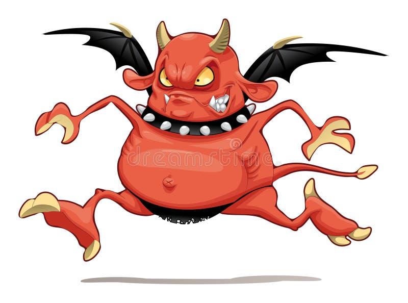 demon śmieszny ilustracji