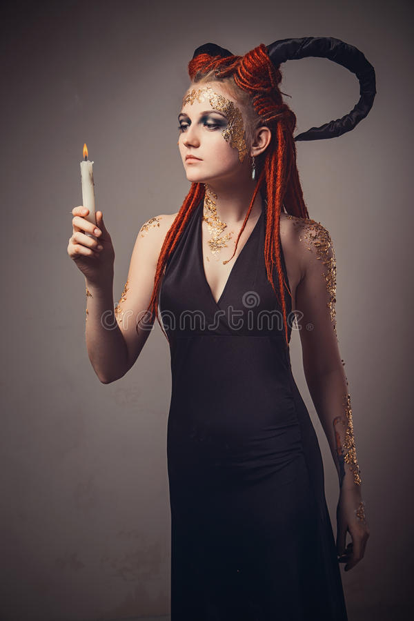 demon fotografia stock