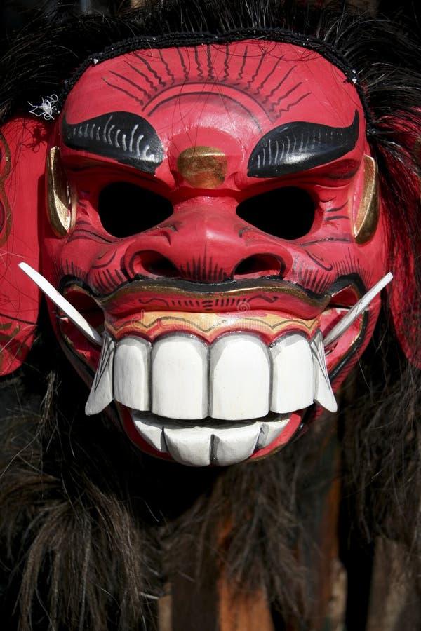 demon balinese maski czerwony zdjęcie royalty free