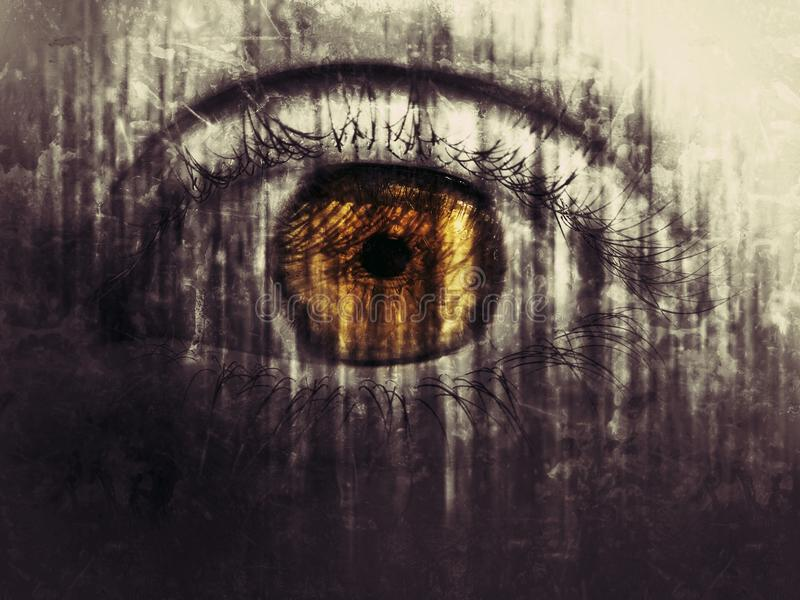 Scary eye royalty free stock images