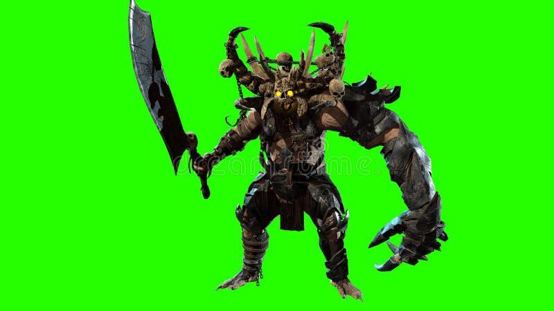 Demon 3d odpłaca się ilustracja wektor