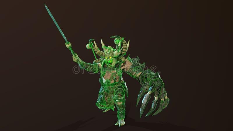 Demon 3d odpłaca się royalty ilustracja