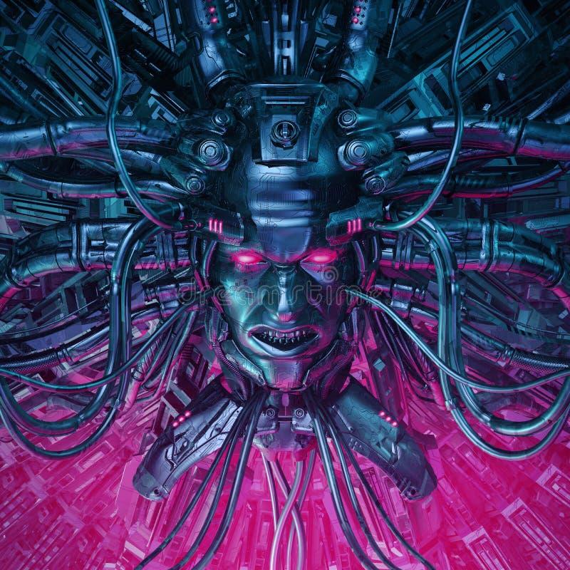Demon in de machine stock illustratie