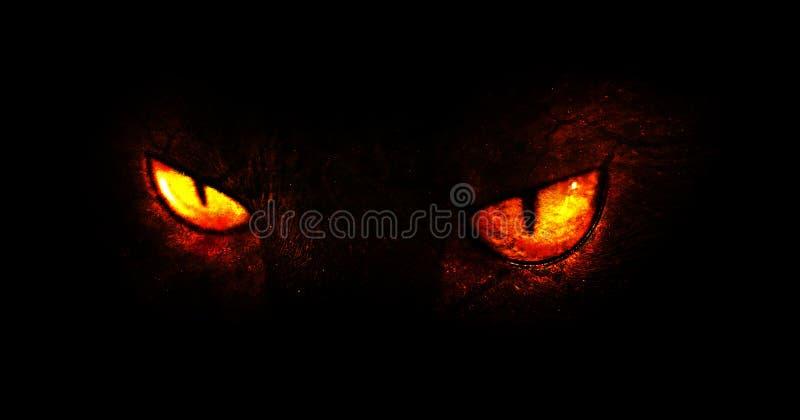 Demon eyes stock illustration