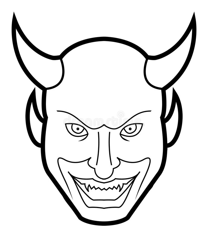 Demon Face Stock Vector. Illustration Of Graphic, Hell