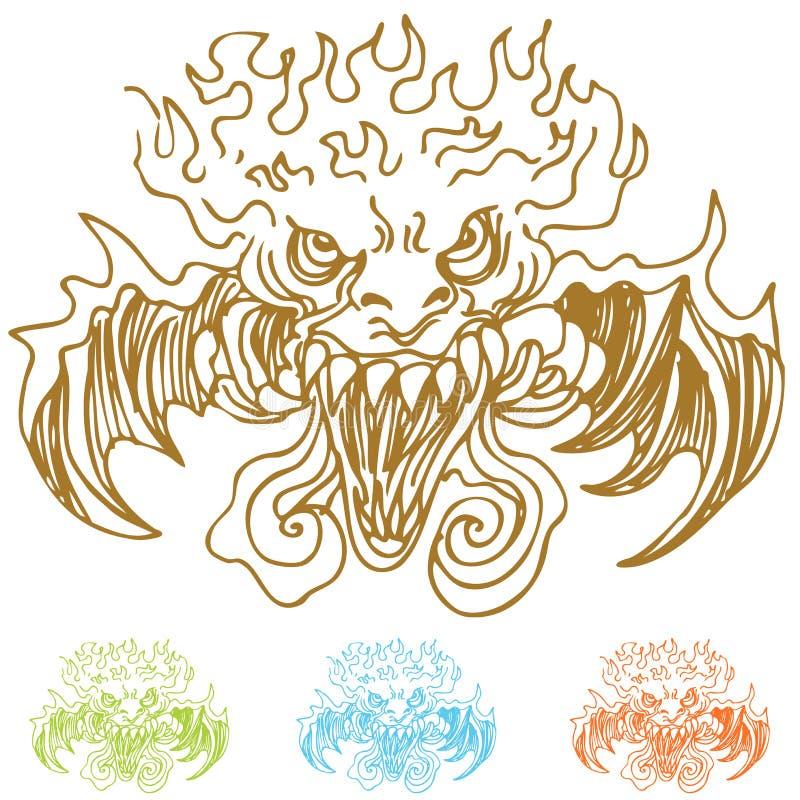 Download Demon Faces stock vector. Image of vector, monster, demon - 18880785