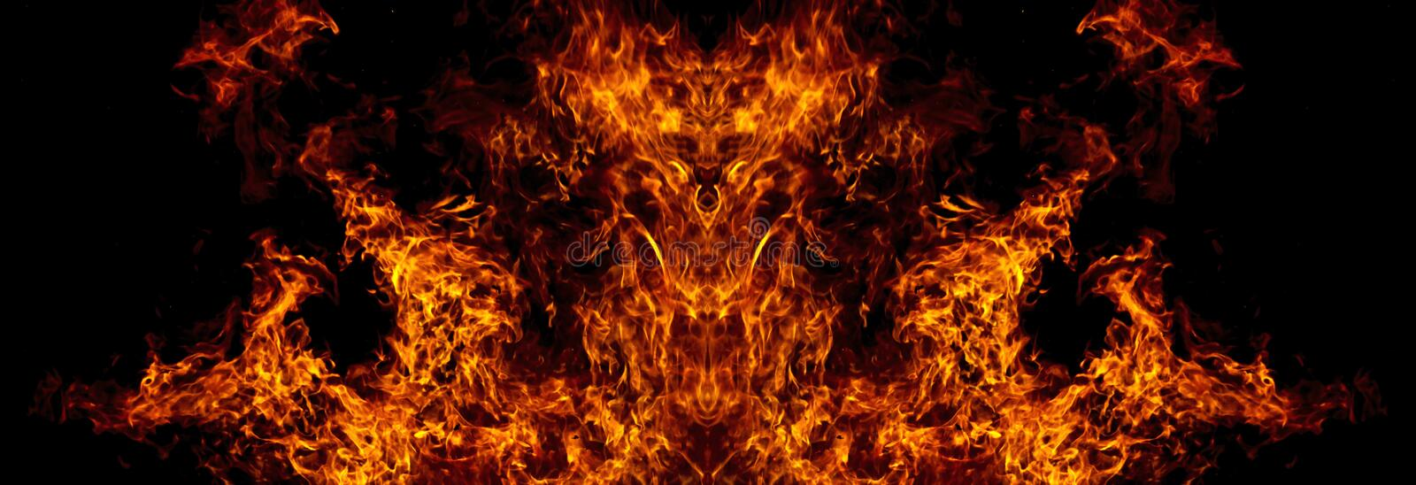 Demon from the fire. A nightmare, a symbol of evil, aggression stock illustration
