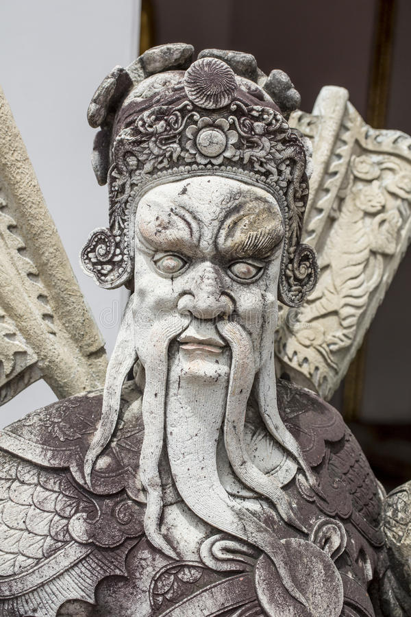 Download The Demon Guardian, Chinese Stone Stock Photo - Image of gold, asian: 31908674