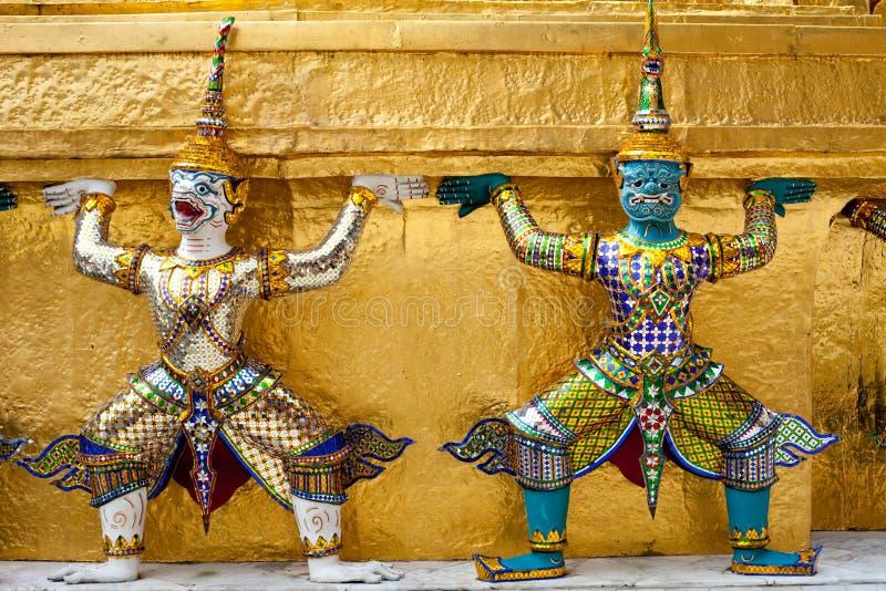 Download Demon Guardian Golden Chedi At Wat Phra Kaew Royalty Free Stock Photography - Image: 11383687