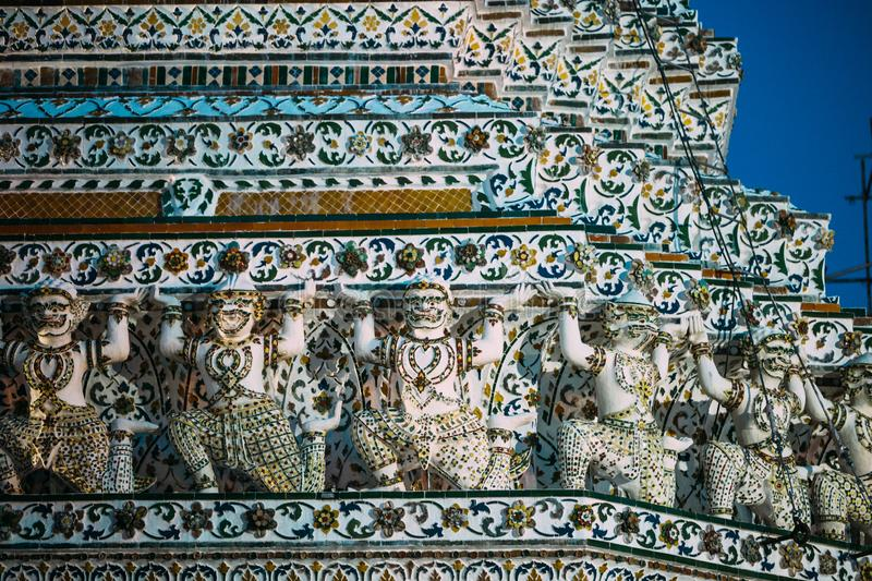 Buddhist temple Wat Arun in Bangkok, Thailand stock images