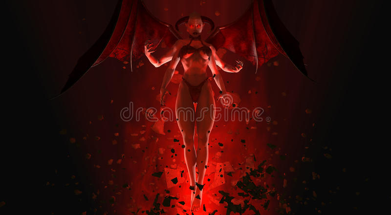 Demon królowa royalty ilustracja