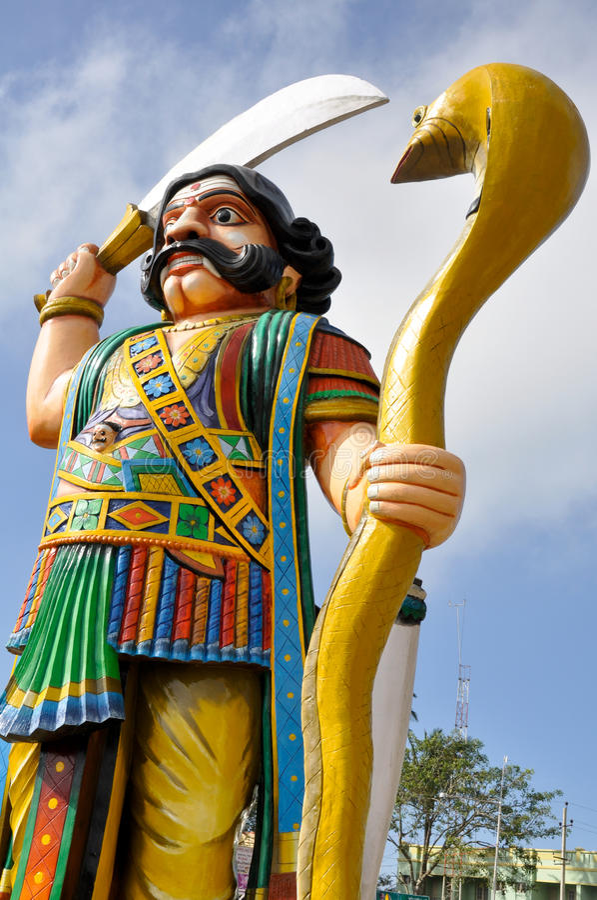 Demon Mahishasura, Mysore, India. Demon Mahishasura, Chamundi Hill, Mysore, India royalty free stock image