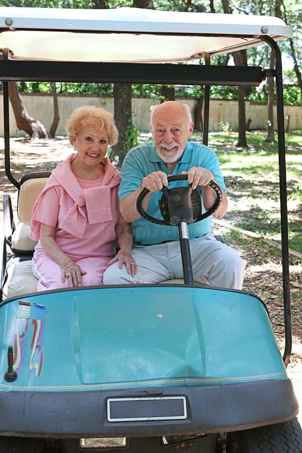 demon prędkości wózka golfa fotografia royalty free