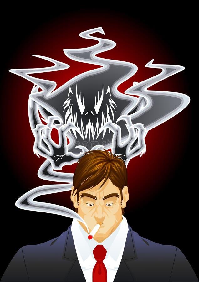 Download Demon of the smoke stock illustration. Image of mortality - 26766736