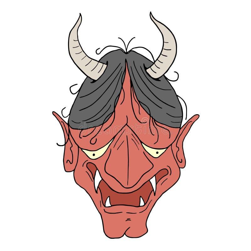 Demon twarzy remis ilustracji