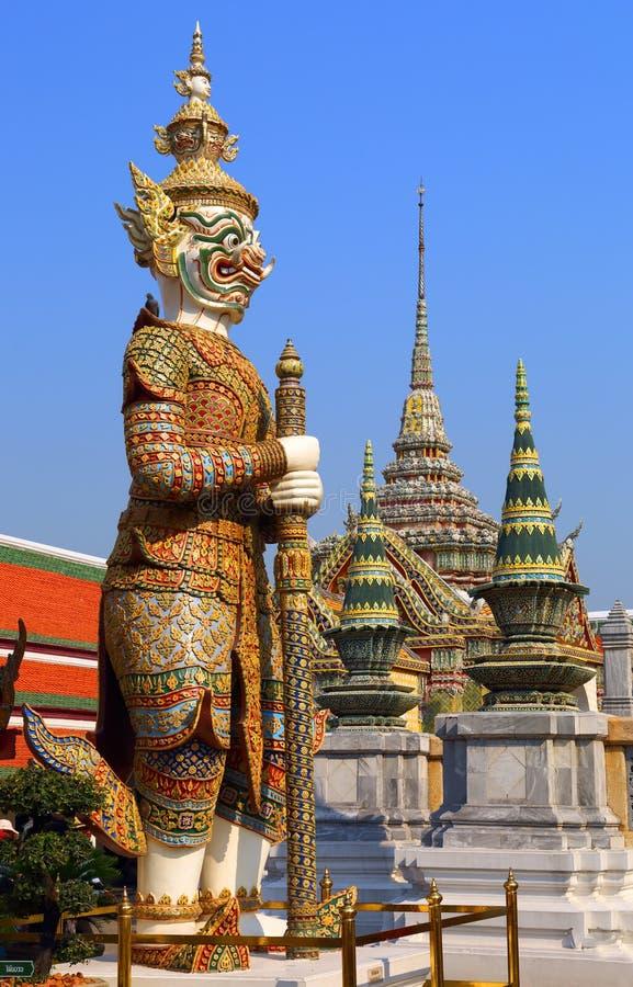 Demon in Wat Phra Kaew in Bangkok royalty-vrije stock foto