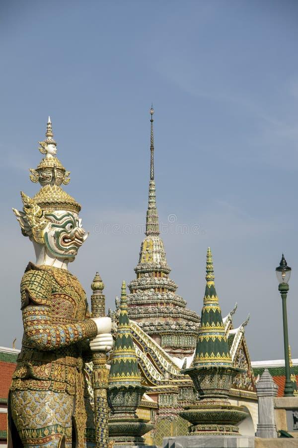 Demonbeschermers bij de Tempel van Emerald Buddha royalty-vrije stock foto's