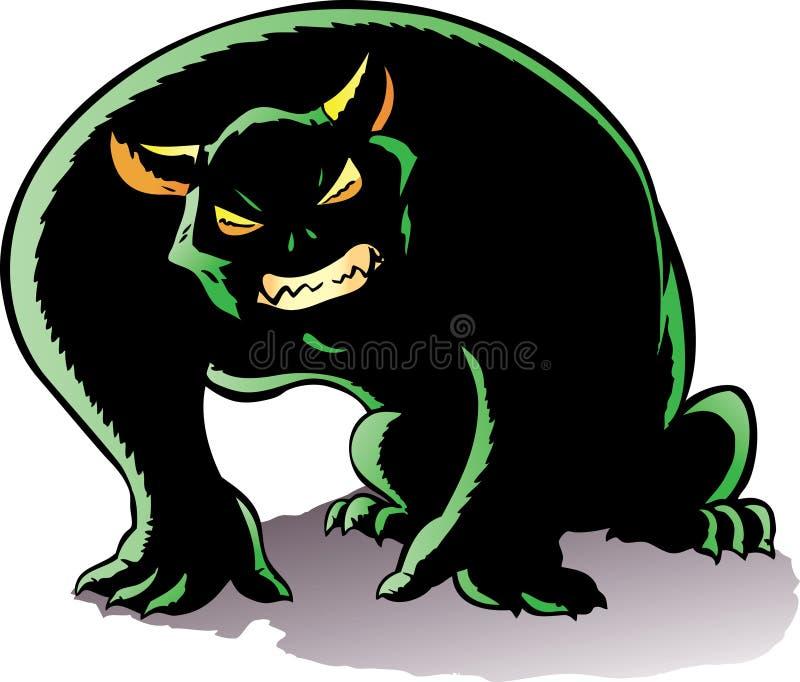 Demone Hunched. illustrazione vettoriale