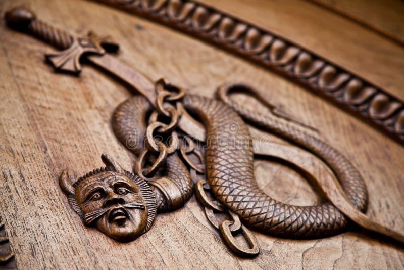 Demone medioevale - undicesimo secolo immagini stock