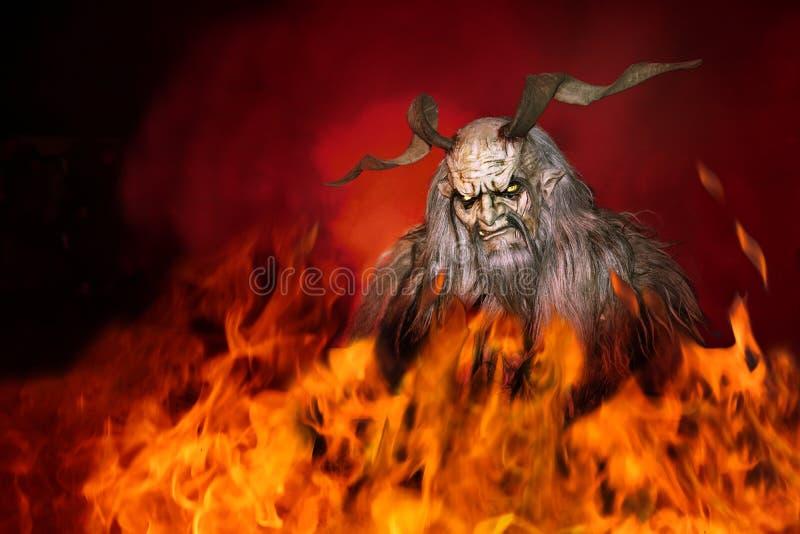 Demone nell'inferno fotografia stock libera da diritti