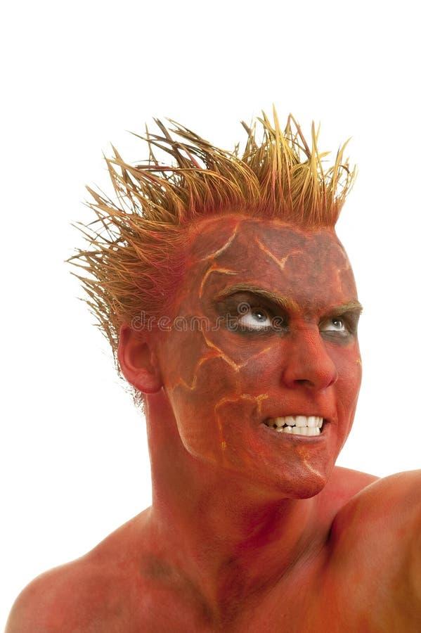 Demone rosso della pelle fotografia stock