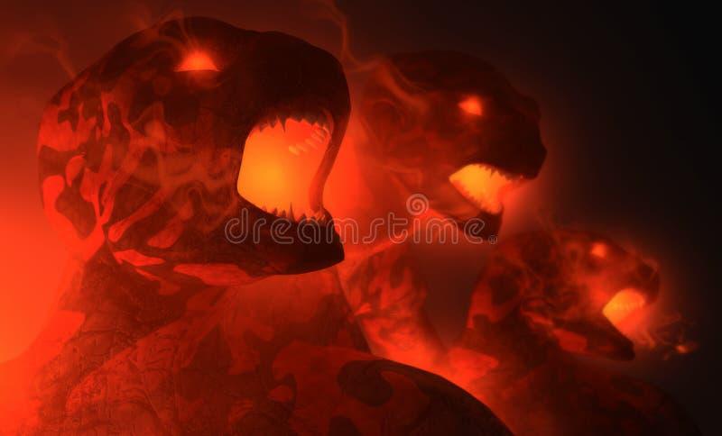 demoner vektor illustrationer