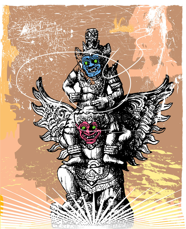 demoner två stock illustrationer