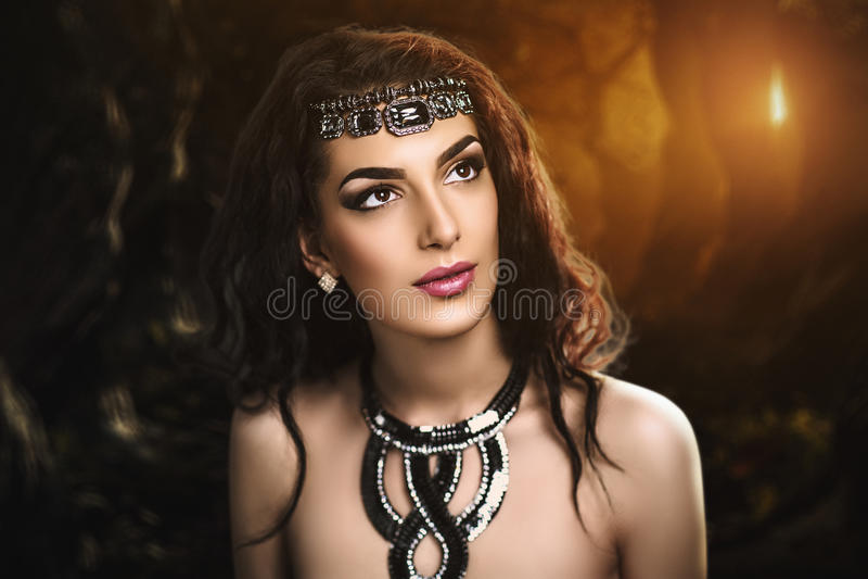 Demonic женщина стоковое изображение