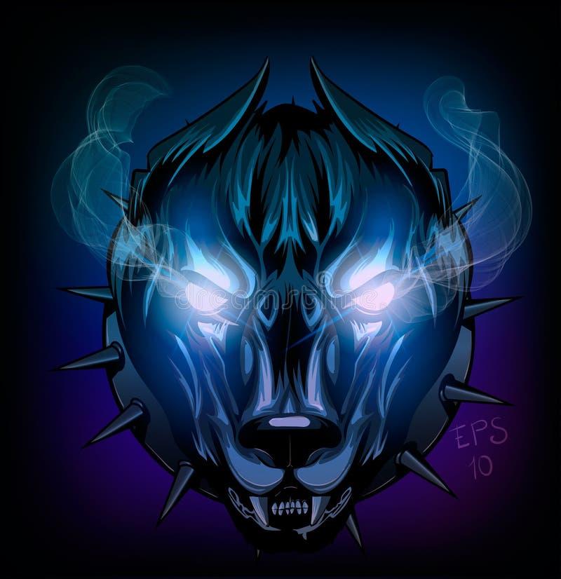 Demonic собака иллюстрация вектора