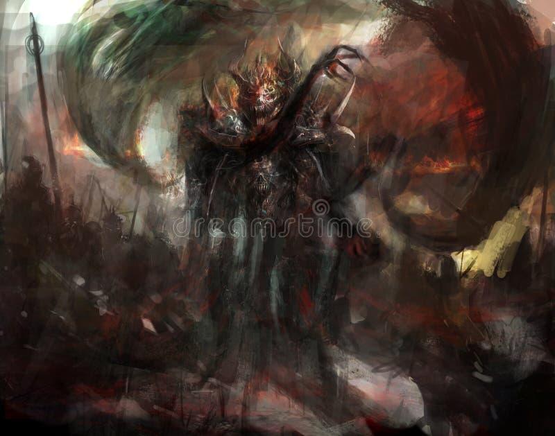 demonic тень иллюстрация вектора