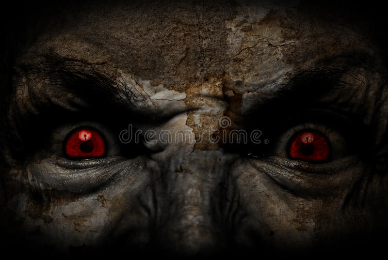 Demonic уродская сторона смотря вас стоковая фотография rf