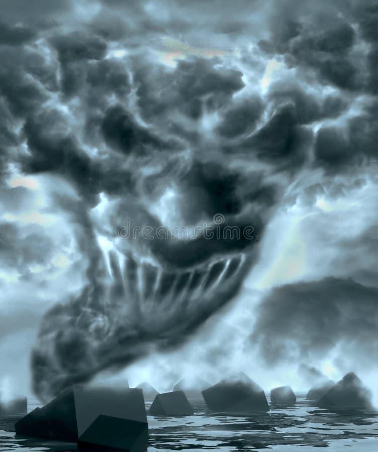 Demonic уродская сторона смотря вас иллюстрация штока