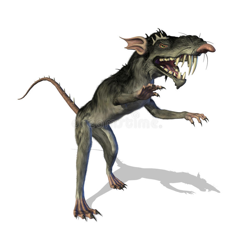Demonic Mutant Rat. This evil mutant rat is the result of a genetics experiment gone horribly wrong - 3D render vector illustration