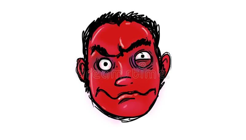 Demonic twarz ilustracji