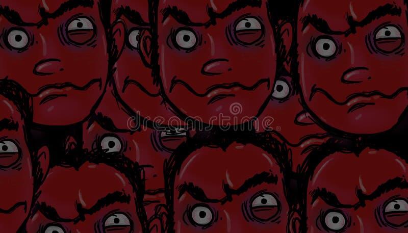 Demonic twarze ilustracja wektor